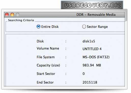 Mac USB Media Software rescues undelete files